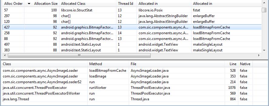 Objekterzeugungen mit dem Android Allocation Tracker