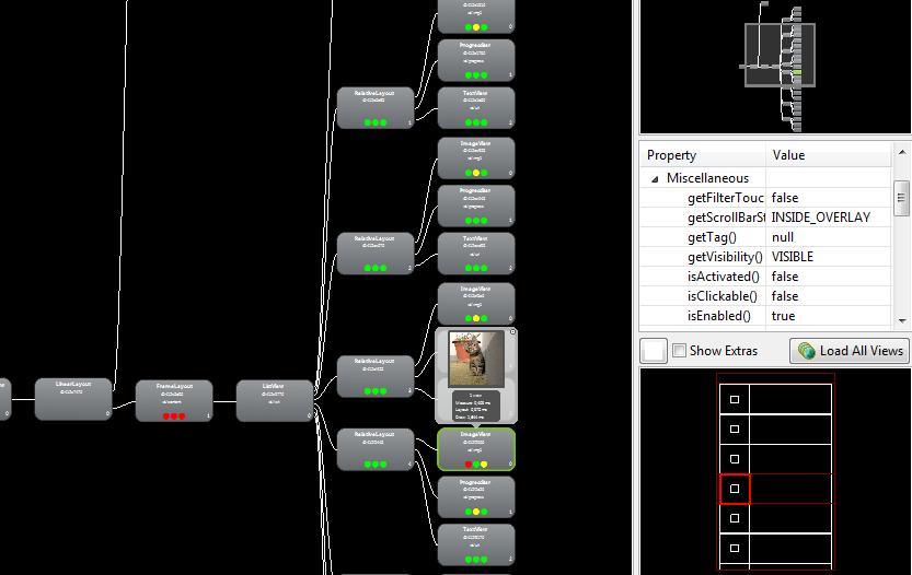 Aufbau des Layouts analysieren mit Hierarchy Viewer