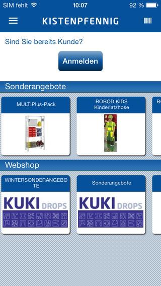 Kistenpfennig Shopping App